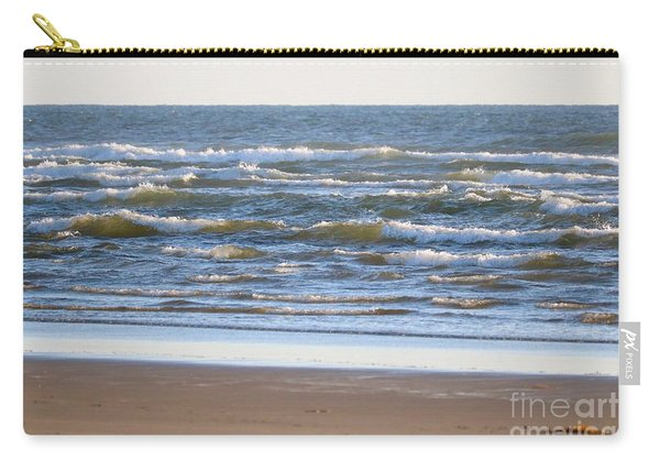 Sparkling Waves With Beach Carry-all Pouch
