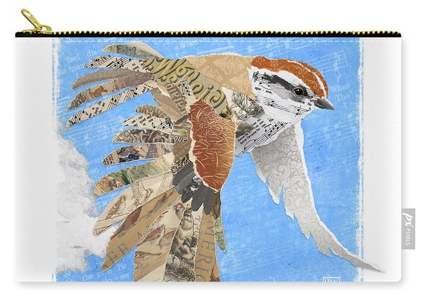 Carry-all Pouch featuring the mixed media Sparrow by Clint Hansen