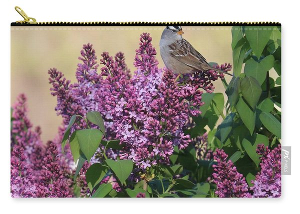 Sparrow In The Lilacs Carry-all Pouch