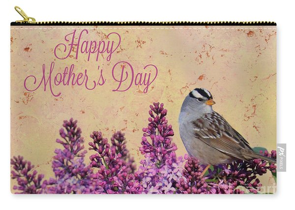 Sparrow In The Lilacs Mother's Day Card Carry-all Pouch