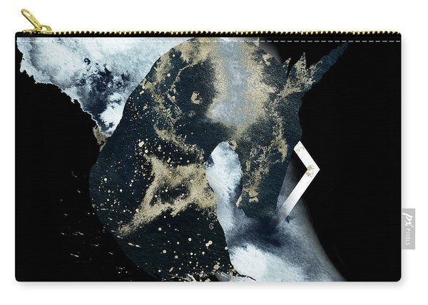 Carry-all Pouch featuring the digital art Spirit Animal by Bee-Bee Deigner