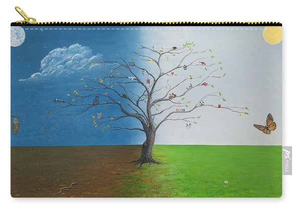 Carry-all Pouch featuring the painting Spirit Of Eden by Kevin Daly