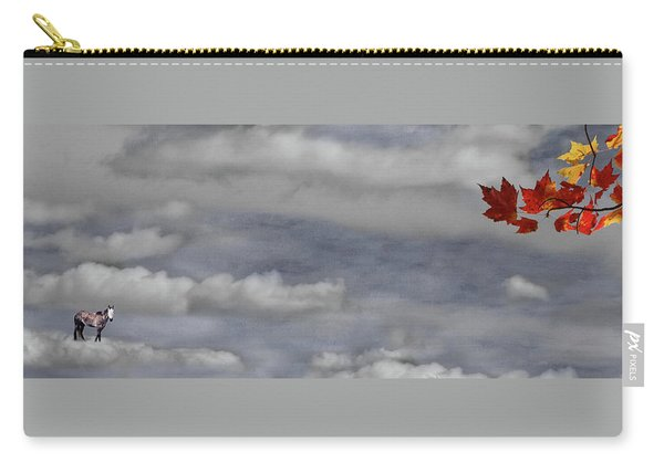 Spirit Pony In A Maple Sky Carry-all Pouch