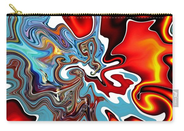 Carry-all Pouch featuring the digital art Splash by A zakaria Mami