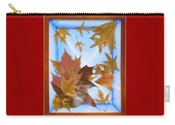 Splattered Leaves Carry-all Pouch