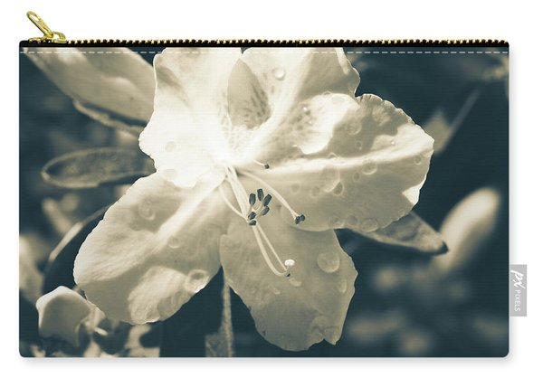 Split Tone White Rhododendron Carry-all Pouch