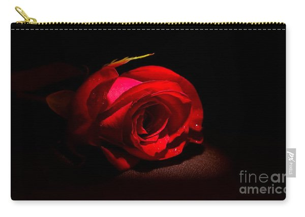 Spotlight Shines On Red Rose Carry-all Pouch