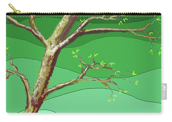 Spring Errupts In Green Carry-all Pouch