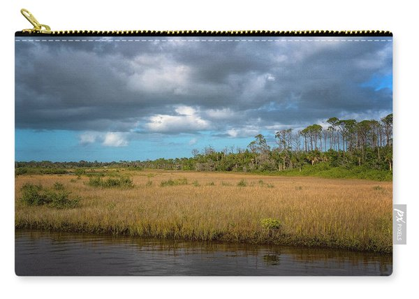 Carry-all Pouch featuring the photograph Spruce Creek Park by Tom Singleton