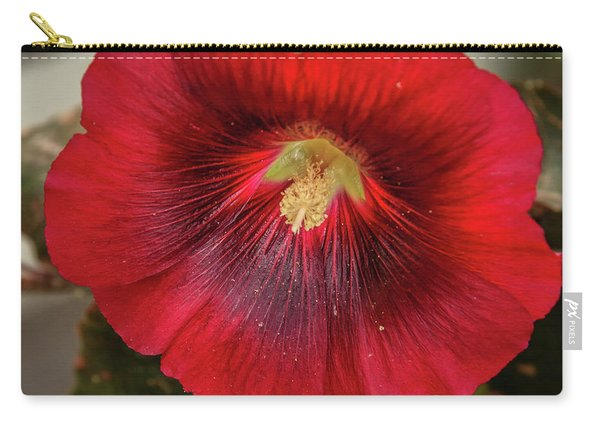 Square Red Hollyhock Carry-all Pouch