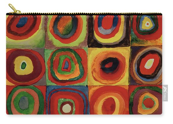 Squares With Concentric Circles 1913  Carry-all Pouch