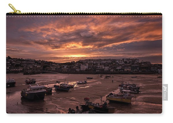 St Ives Cornwall - Harbour Sunset Carry-all Pouch