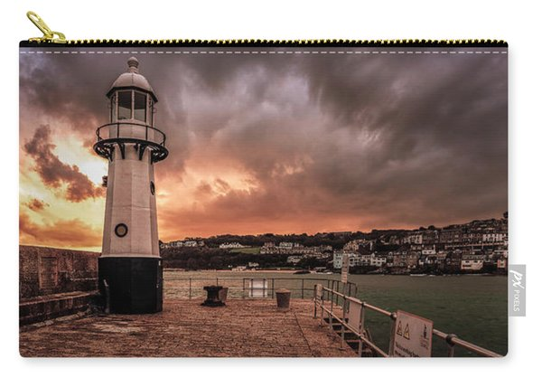 St Ives Cornwall - Lighthouse Sunset Carry-all Pouch