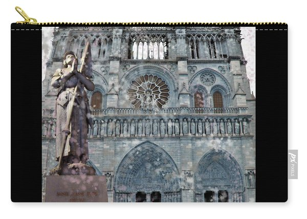 St Joan Of Arc Watch Over Notre Dame Carry-all Pouch