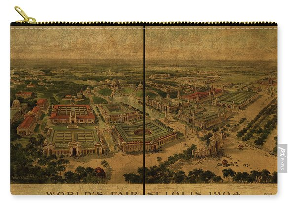 St Louis Missouri Worlds Fair Vintage City Street Map 1904 Carry-all Pouch