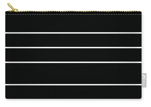 Stacked - Black And White Carry-all Pouch