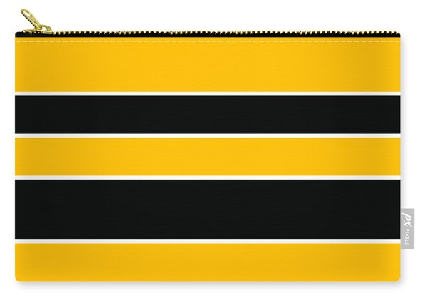 Stacked - Black And Yellow Carry-all Pouch