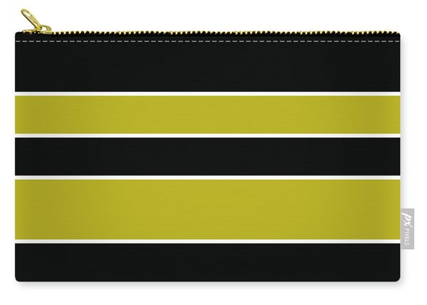 Stacked - Gold, Black And White Carry-all Pouch