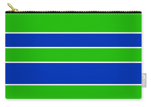 Stacked - Navy, White, And Lime Green Carry-all Pouch