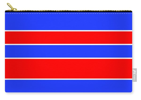 Stacked - Red, White And Blue Carry-all Pouch