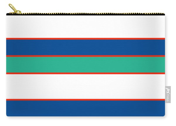 Stacked - Sea Foam, Orange, Navy And White Carry-all Pouch