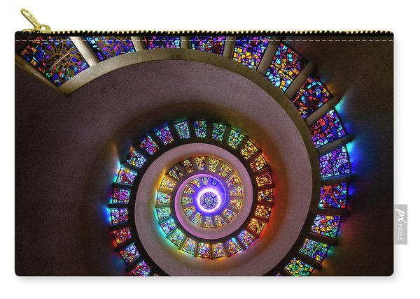 Stained Glass Spiral Carry-all Pouch