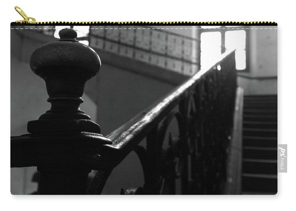 Carry-all Pouch featuring the photograph Stairs, Handrail by Edward Lee