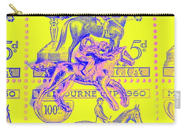 Stamps And Stallions Carry-all Pouch