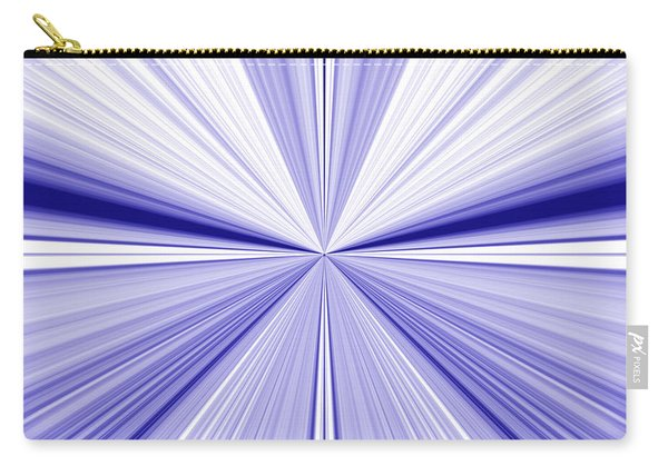Starburst Light Beams In Blue And White Abstract Design - Plb455 Carry-all Pouch