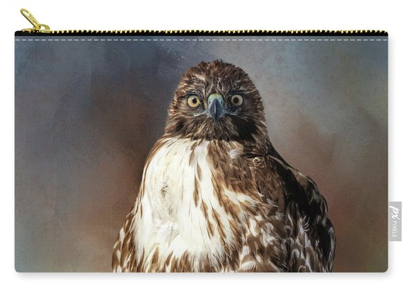 Stare Down With A Hawk Carry-all Pouch