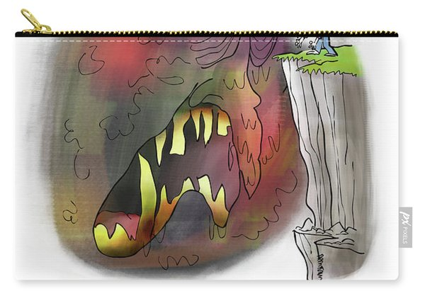 Carry-all Pouch featuring the digital art Staring Into The Void by Mark Armstrong