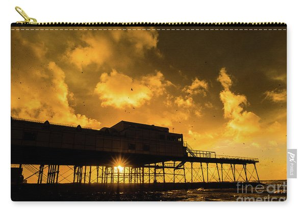 Starlings Ataberystwyth Pier At Sunset Carry-all Pouch