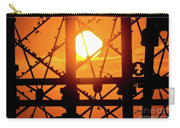 Starlings Roosting At Sunset Carry-all Pouch