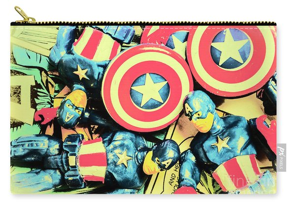 Stars Of Freedom Fighters Carry-all Pouch