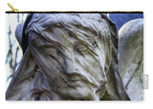 Carry-all Pouch featuring the photograph Statue, Thought by Edward Lee