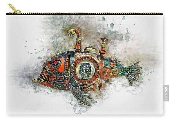 Steampunk Fish Carry-all Pouch