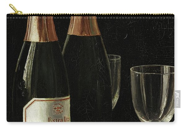 Still Life With Champagne, Cigars, And A Pack Of Playing Cards Carry-all Pouch