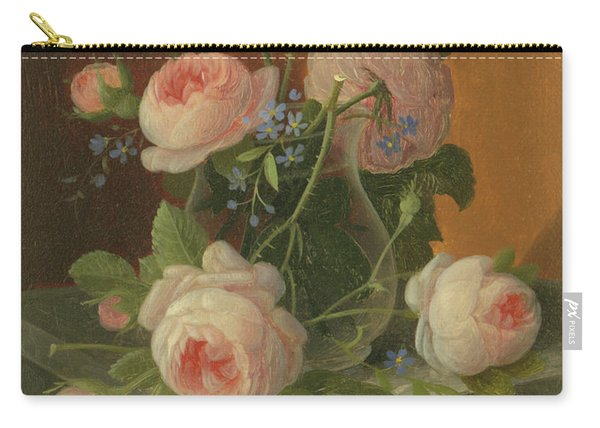 Still Life With Roses, Circa 1860 Carry-all Pouch