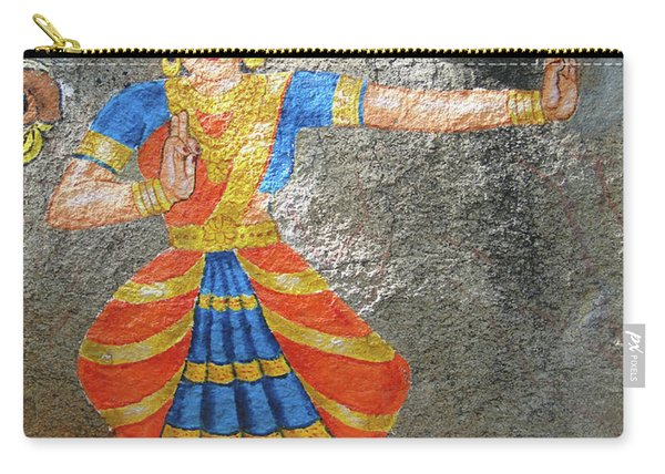 Stone Painting Of Nautch Dancing Gir Carry-all Pouch