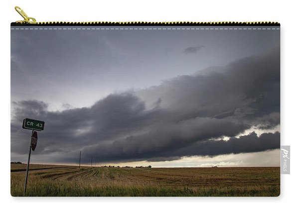 Carry-all Pouch featuring the photograph Storm Chasin In Nader Alley 004 by NebraskaSC
