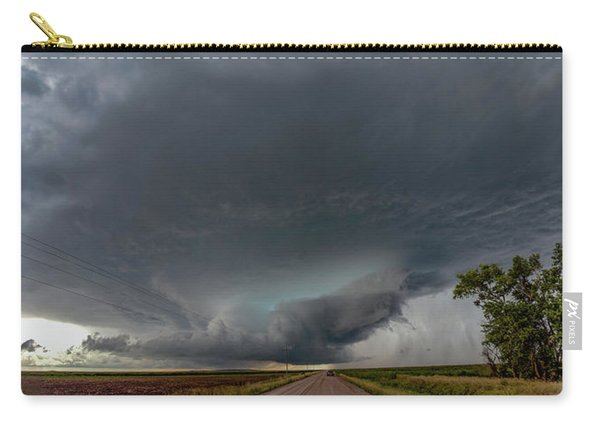 Carry-all Pouch featuring the photograph Storm Chasin In Nader Alley 008 by NebraskaSC