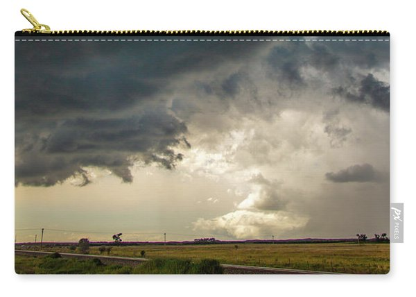 Carry-all Pouch featuring the photograph Storm Chasin In Nader Alley 012 by NebraskaSC