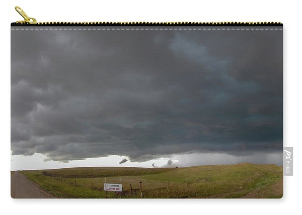Carry-all Pouch featuring the photograph Storm Chasin In Nader Alley 016 by NebraskaSC