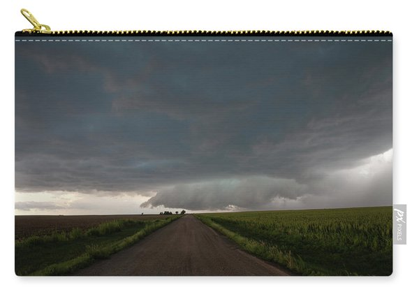 Carry-all Pouch featuring the photograph Storm Chasin In Nader Alley 025 by NebraskaSC