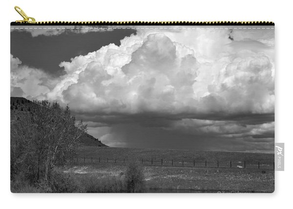 Storm Coming In Black And White Carry-all Pouch