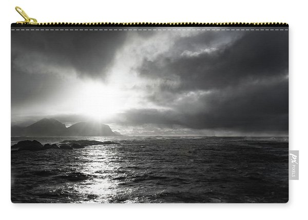 stormy coastline in northern Norway Carry-all Pouch