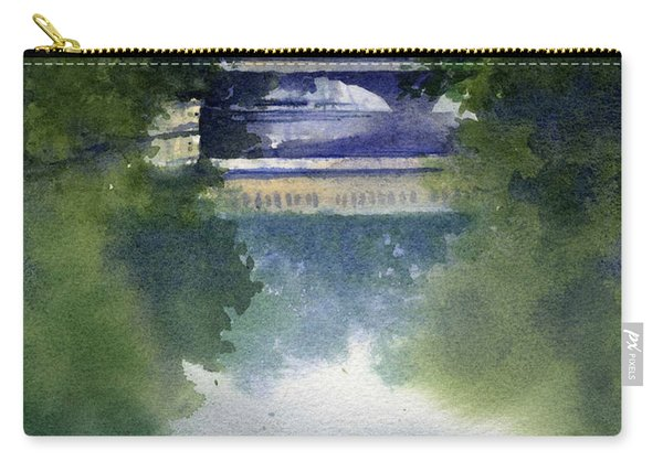 Stormy Day On Bridge Road Carry-all Pouch