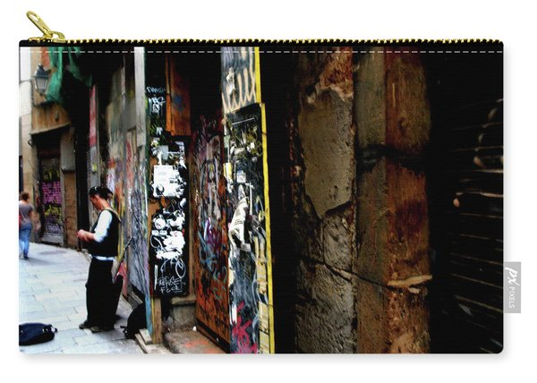 Carry-all Pouch featuring the photograph Street, Graffiti  by Edward Lee