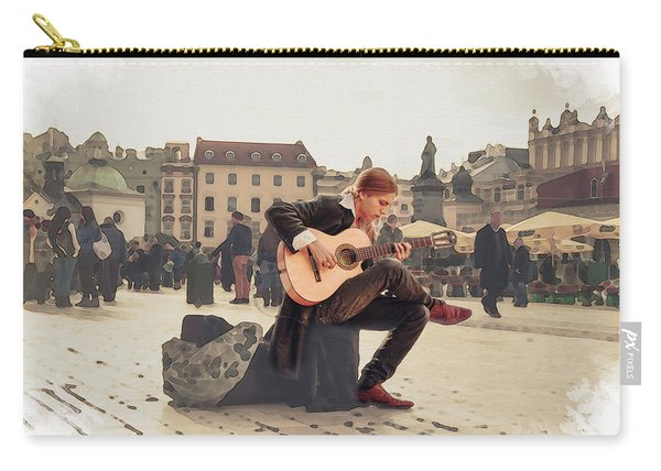 Street Music. Guitar. Carry-all Pouch