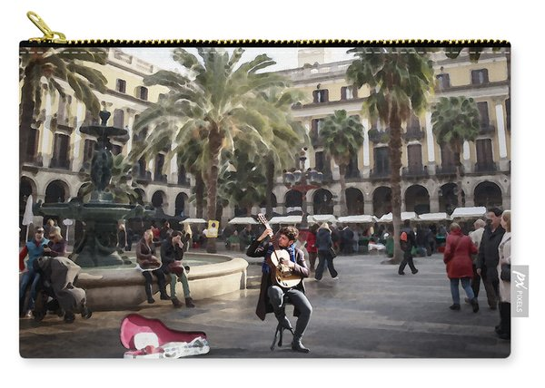 Street Music. Guitar. Barcelona, Plaza Real. Carry-all Pouch